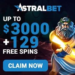 AstralBet Casino €/$3000 bonus and 129 free spins (NEW)