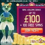 Fantasino Casino 100 free spins plus 225% up to €700 free bonus
