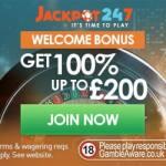 Jackpot247 Casino – 100% up to £200 bonus & free spins – live & slots