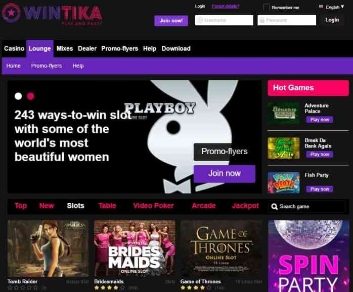 Wintika - online casino and mobile games