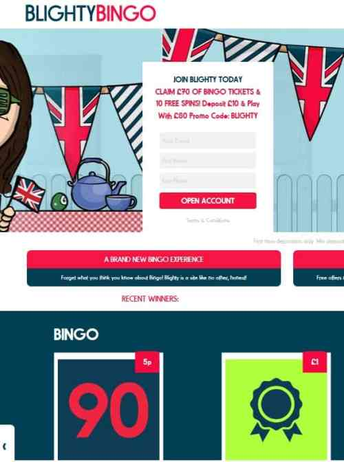 Blighty Bingo Casino Review