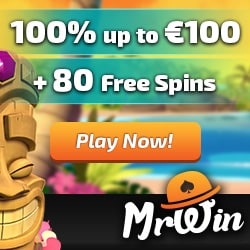 Mr Win Casino   30 gratis spins + 100% free bonus + 50 free spins