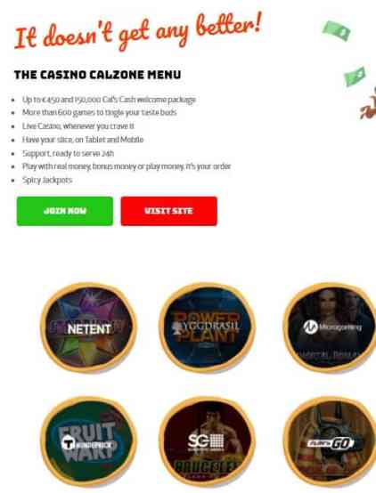 Calzone Casino Review