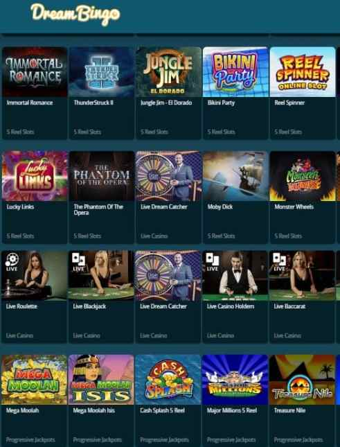Dream Bingo Casino free games