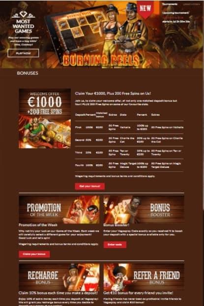Vegas Play Casino free spins bonus