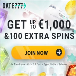 Gate 777 Casino - 200 gratis spins and $1000 FREE welcome bonus