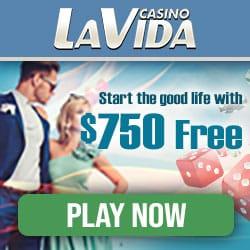 Casino La Vida 50 exclusive free spins + 200% up to €750 bonus