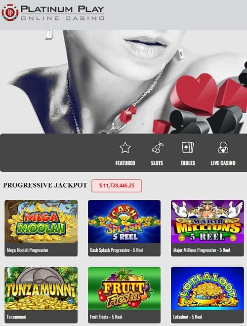 Platinum Play Casino free spins bonus