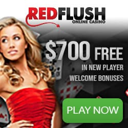Red Flush Casino 50 free spins and €700 free in deposit bonuses