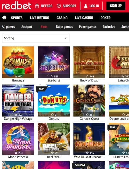 Redbet Casino free spins bonus