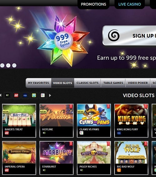 Spinson Casino Online Review