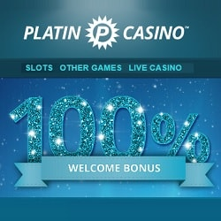 Platin Casino 100% deposit bonus + 20 free spins on Book of Dead