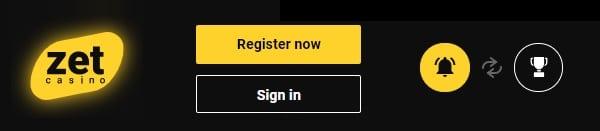 Zet Casino login and register