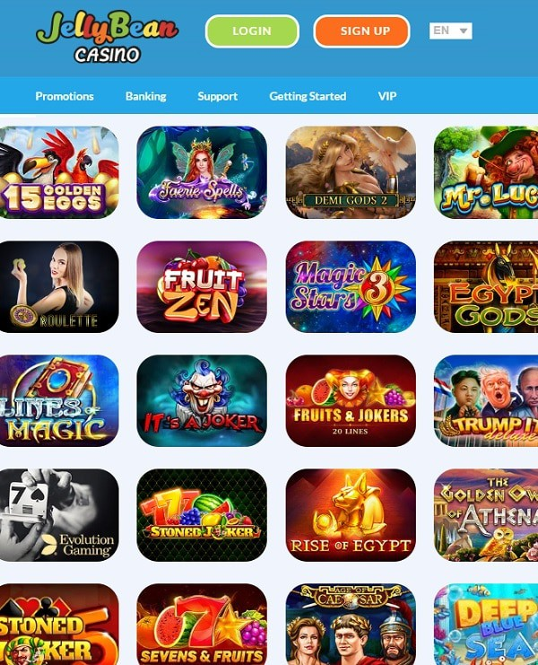 Jelly Bean Casino online and mobile