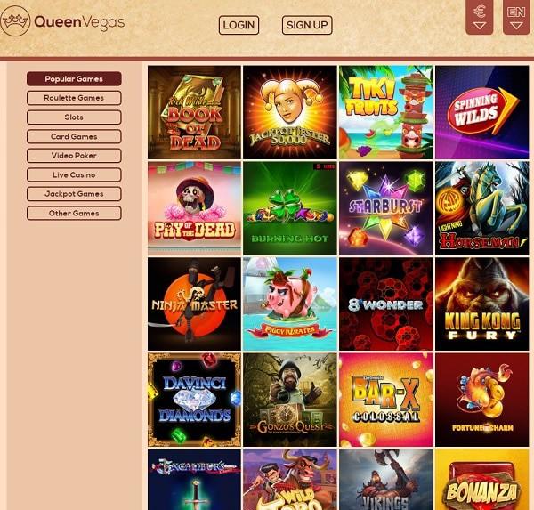 Queen Vegas Casino no deposit bonus