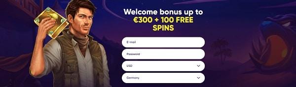Register now and claim free bonus on deposit