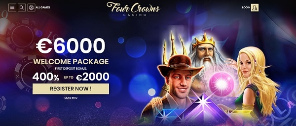 400% bonus to 4Crowns