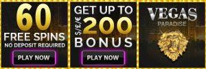 Vegas Paradise Casino Online free spins