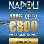 Casino Napoli 550% welcome bonus and €3000 free money