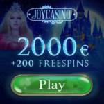 Joy Casino €2.000 FREE (450% bonus) and 200 free spins gratis