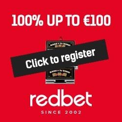 Redbet Casino 250 free spins + €1000 free bonus - no deposit gaming