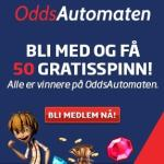 OddsAutomaten Casino   100 gratis spins + 10,000 kr bonus   NO & SE