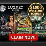 Luxury Casino – 20 free spins no deposit and €1000 free bonus