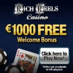 Rich Reels Casino 100 free spins and $1000 free bonus on sign-up