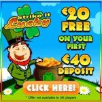 Strike It Lucky Casino - 20 free spins plus 100% free bonus