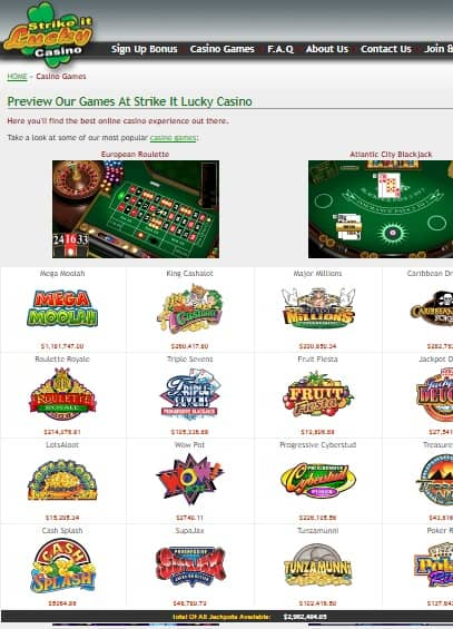 Strike It Lucky Casino Review