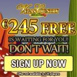 Vegas Country Casino – 100 free spins and 150% up to €245 free bonus