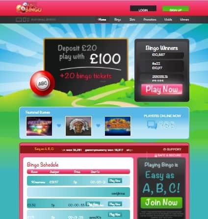 ABC Bingo Online - free games bonus
