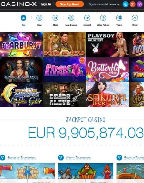 Casino-X free spins bonus