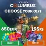 Columbus Casino (online & mobile) – 650€ bonus and 195 gratis spins