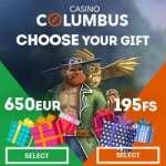 Columbus Casino (online & mobile) – 650€ bonus and 195 gratis spins