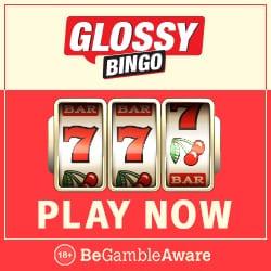 Glossy Bingo Casino | 50 Free Spins plus 300% Bonus | Free Play Slots