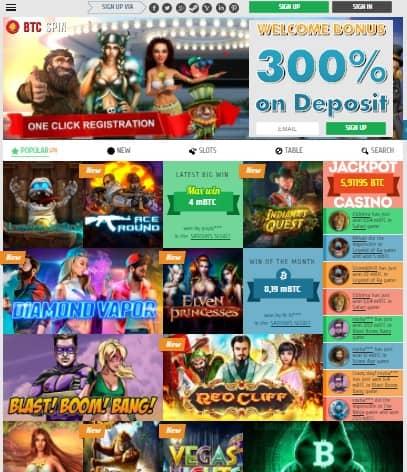 BTCSPIN Casino Free Spins Bonus