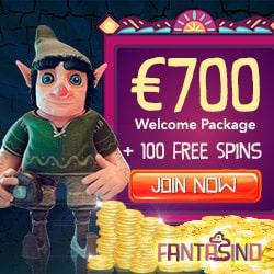 FANTASINO | 20 gratis spins NDB + 140 free spins + €700 free bonus