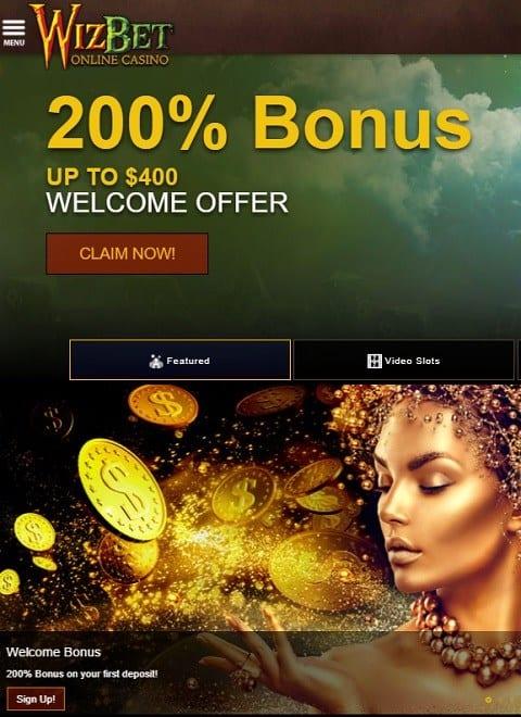Wizbet Review - free spins, free chips, bonus code
