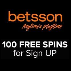 Betsson Casino 100 free spins & €100 free bet bonus - JACKPOT!