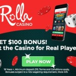 Rolla Casino 500 free spins and 500 EUR free bonus on registration