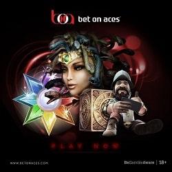 Bet On Aces Casino 100% bonus u to 350 EUR/USD/GBP + free spins