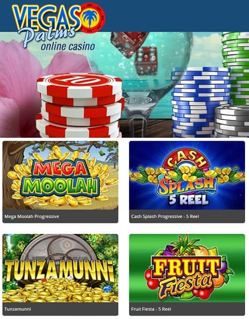 Vegas Palms Casino free play bonus