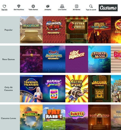 Casumo Casino free games