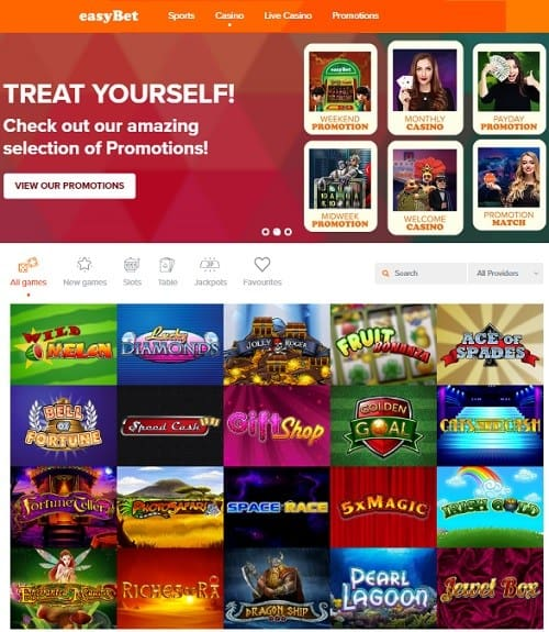 Easy Bet Casino free bet bonus