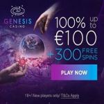 Genesis Casino [register & login] 300 free spins + €1000 bonus cash