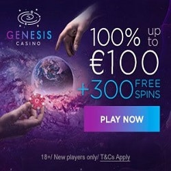 Genesis Casino [register & login] 300 free spins + €1000 bonus offer