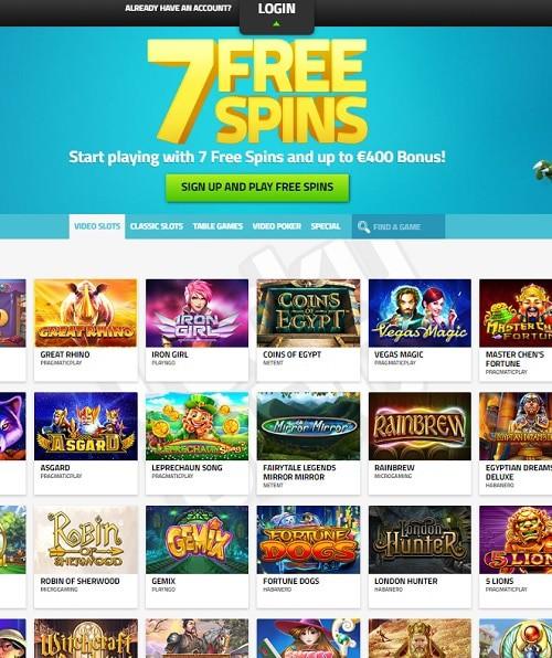LuckyDino.com free spins bonus