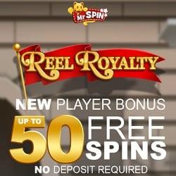 Mr Spin Casino (mrspin.co.uk) 50 free spins bonus on mobile slots