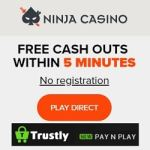 Ninja Casino [Trustly login, no registration] - Gratis Spins & Free Bonus